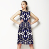 Blue & Black Abstract With Neon Hints (Dress)