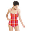 Orange and Pink Plaid (Swimsuit)