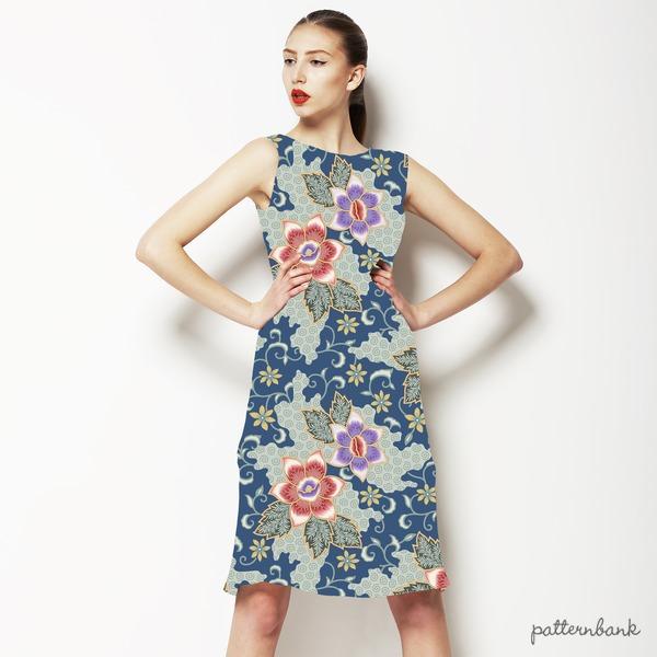 Seamless Batik Floral Pattern 3