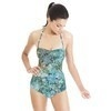 Abstract Flower Pattern Scarf (Swimsuit)