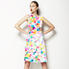 Abstract Floral White (Dress)