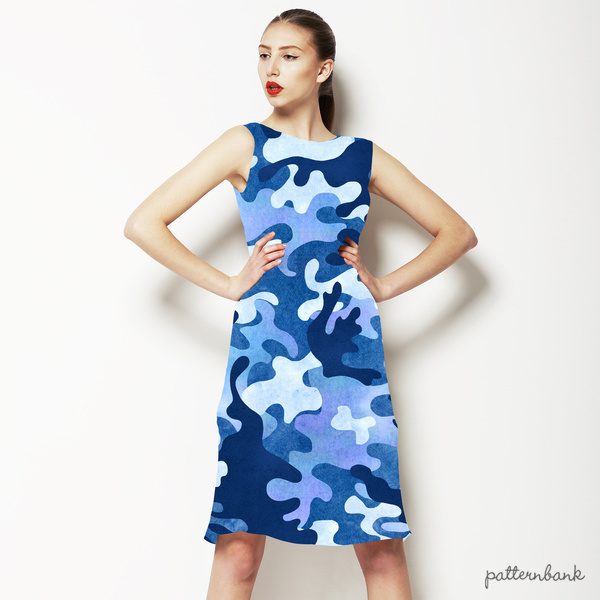 Camouflage Blue