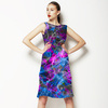 Purple Electric Waves (Dress)