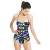 Seamless Irregular Camuflage Paisley Abstrac Textile (Swimsuit)