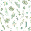 Floral Pattern Succulents (Original)