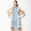 Small Japanese Blue Blossom Pattern (Dress)