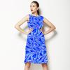 Blue Watercolor Folk (Dress)