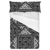 Black and White Floral Scarf Print (Bed)
