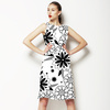 Floral Pattern in Black and White (Dress)