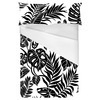 Tropical Leaves Black Silhouettes (Bed)