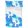 Watercolor Blue Plants on White Background (Bed)