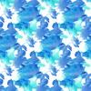 Watercolor Blue Plants on White Background (Original)