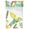 Parrots and Exotic Flowers Pattern (Bed)