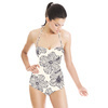 Hand Drawn Hibiscus Floral (Swimsuit)