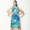 Green and Blue Vivid Tropics (Dress)