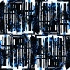 Blue, Black and White Reconstructed Abstract (Original)
