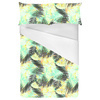 Yellow Green Tropical Leaves Pattern (Bed)