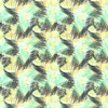 Yellow Green Tropical Leaves Pattern (Original)