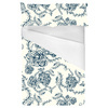 Floral Vector Roses in Blue (Bed)