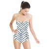 Brush Stroke Batik Chevron (Swimsuit)
