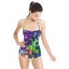 Colorful Geometric Background (Swimsuit)