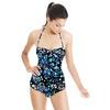 Dark Seamless Artistic Paisley Pattern (Swimsuit)