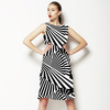 Black and White Optical Groove (Dress)
