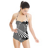 Black and White Optical Groove (Swimsuit)