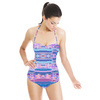 Abstract Glitch Stripes (Swimsuit)