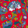 Red Flowers Pattern. Bright Floral Pattern (Original)