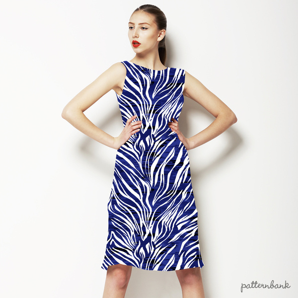 Textured Indigo Zebra Stripe