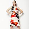 Black N Red Watercolor Flowers (Dress)