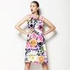 Aztec Digital Floral With Distressed Stripes (Dress)