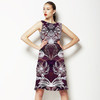 Painted Crayon White Floral Drawing (Dress)