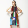 Abstract Painting Mirrored Colorful Marker (Dress)