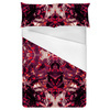 Red Magenta Love Abstract Foliage Splatter (Bed)