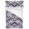 Pastel Tartan Abstract Plaid on White (Bed)