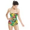 Bright Tropical Leafy Floral (Swimsuit)