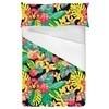 Bright Tropical Leafy Floral (Bed)