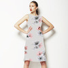 Photoreal Vector X-Ray Floral Square Repeat (Dress)