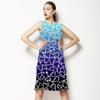 Blue Gradient Playful Geo (Dress)