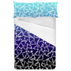 Blue Gradient Playful Geo (Bed)