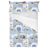 Blue Linear Floral (Bed)