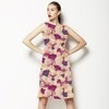 Mixed Media Allover Pink Floral (Dress)