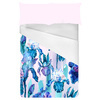 Watercolor Indigo Irises Border Placement (Bed)