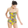 Yellow Tahiti Abstract Floral (Swimsuit)