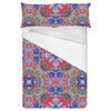 Kaleidoscope Mirrored Multicolored Rorschach Print (Bed)