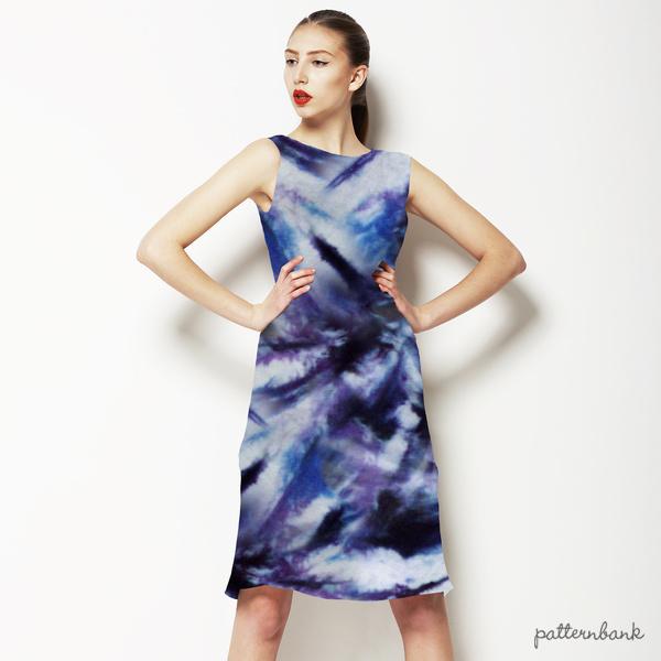 Bleached Indigo Tie Dye Textile Print