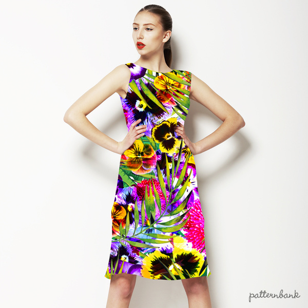 Bright Tropical Summer Floral