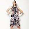 Dust Pink Stained Glass Square Graphic (Dress)